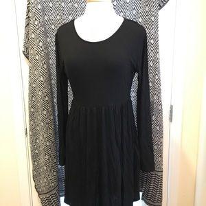 Long sleeve black minidress